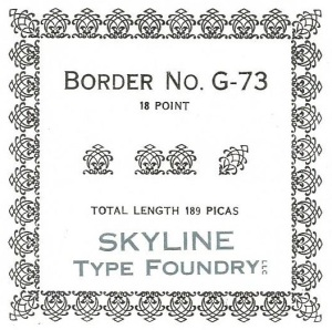 Border G-073